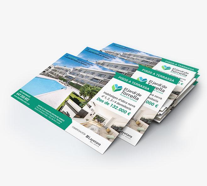 diseño grafico para promoción inmobiliaria